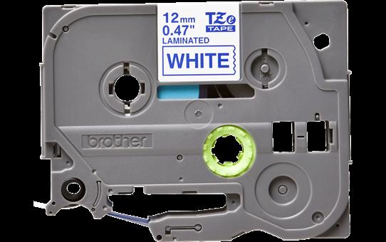 Originální kazeta s páskou Brother TZe-233 - modrý tisk na bílé, šířka 12 mm 2