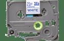Oryginalna taśma TZe-233 firmy Brother – niebieski nadruk na białym tle, 12mm szerokości 2
