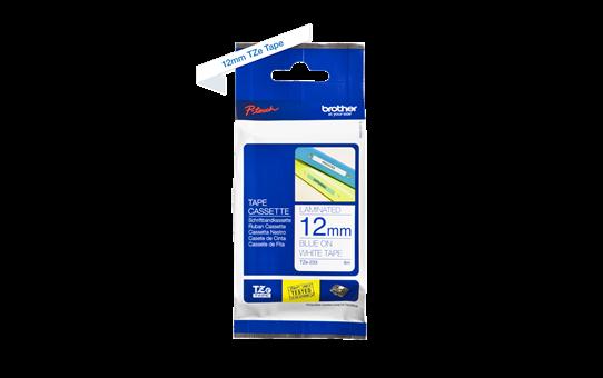 Brother original TZe233 merketape - blå på hvit, 12 mm bred 3