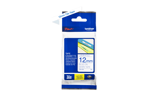 Genuine Brother TZe-233 Labelling Tape Cassette – Blue on White, 12mm wide 2