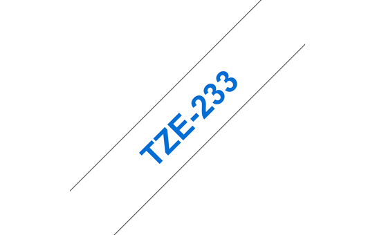 Genuine Brother TZe-233 Labelling Tape Cassette – Blue on White, 12mm wide