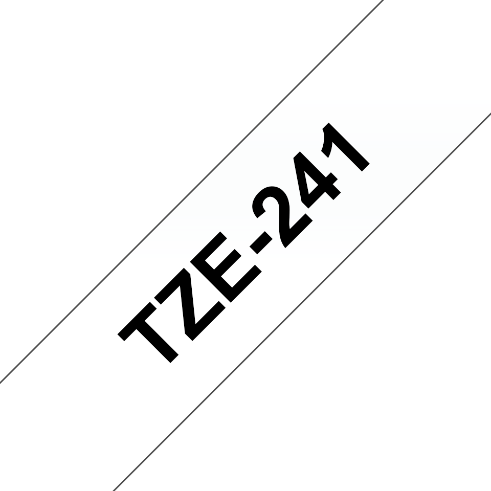 Genuine Brother TZe-241 Labelling Tape Cassette – Black on White, 18mm wide