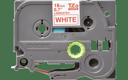 OriģinālaBrother  TZe242 uzlīmju lentes kasete – sarkanas drukas balta, 18mm plata