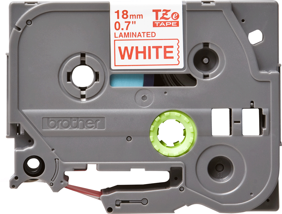 Cassette à ruban pour étiqueteuse TZe-242 Brother originale – Rouge sur blanc, 18 mm de large 2