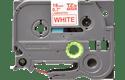 Original Brother TZe242 tape – rød på hvid, 18 mm bred 2