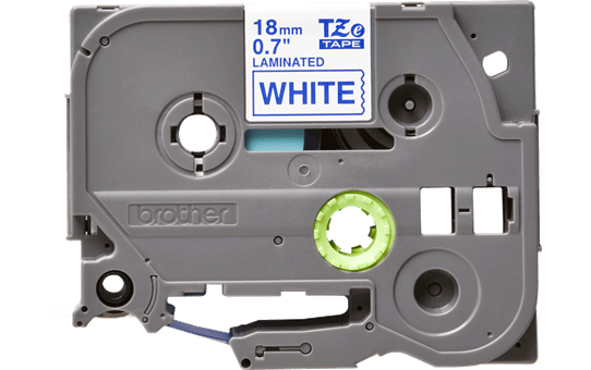 Genuine Brother TZe-243 Labelling Tape Cassette – Blue on White, 18mm wide 2