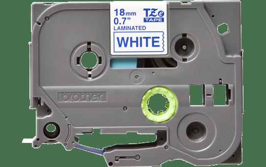 Casetă cu bandă de etichete originală Brother TZe-243 – albastru pe alb, lățime de 18mm 2