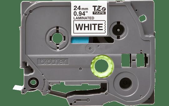Oryginalna taśma TZe-251 firmy Brother – czarny nadruk na białym tle, 24mm szerokości 2