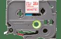 Cassette à ruban pour étiqueteuse TZe-252 Brother originale – Rouge sur blanc, 24mm de large 2