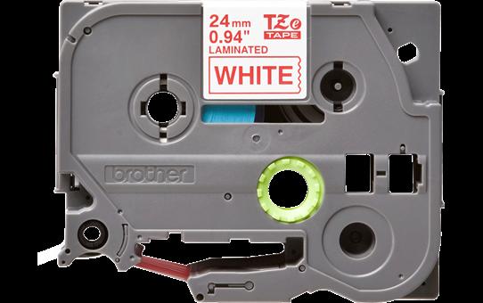 Cassetta nastro per etichettatura originale Brother TZe-252 – Rosso su bianco, 24 mm di larghezza