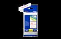 Originele Brother TZe-252 label tapecassette – rood op wit, breedte 24 mm 3