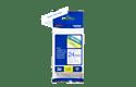 Brother TZe253: оригинальная кассета с лентой для печати наклеек синим на белом фоне, ширина: 24 мм. 2