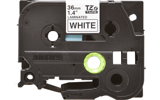 Genuine  Brother TZe-261 Labelling Tape Cassette – Black on White, 36mm wide 2