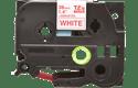 Original TZe-262 Schriftbandkassette von Brother – Rot auf Weiß, 36mm breit 2