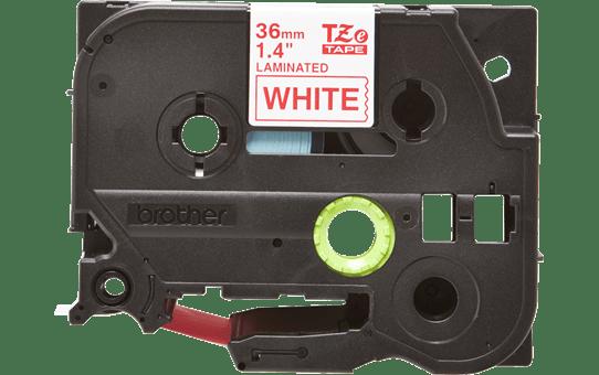 Eredeti Brother TZe-262 laminált szalag – Fehér alapon piros, 36mm széles 2