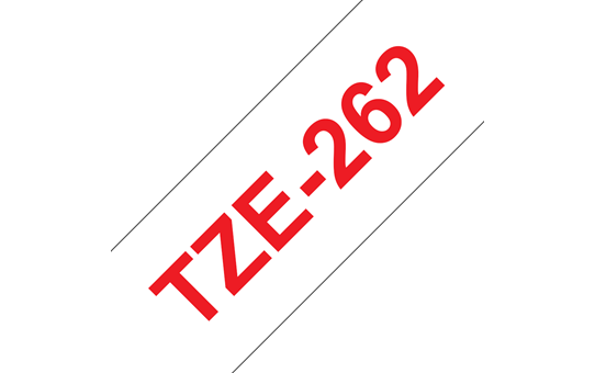 Genuine Brother TZe-262 Labelling Tape Cassette – Red on White, 36mm wide