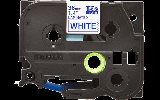 Alkuperäinen Brother TZe263 -tarranauha – sininen teksti valkoisella pohjalla, 36 mm 2