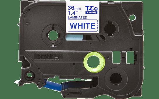 Oriģinālā Brother TZe263 zilas drukas balta uzlīmju lentes kasete, 36mm plata 2