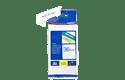 Oriģinālā Brother TZe263 zilas drukas balta uzlīmju lentes kasete, 36mm plata 3
