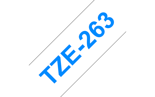 Genuine Brother TZe-263 Labelling Tape Cassette – Blue on White, 36mm wide