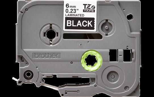 Original Brother TZe315 merketape – hvit på sort, 6 mm bred 2