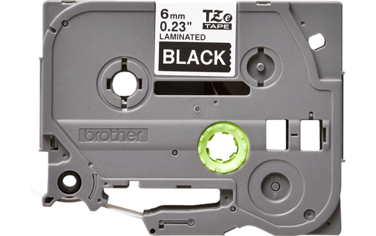 Originele Brother TZe-315 label tapecassette – wit op zwart, breedte 6 mm 2
