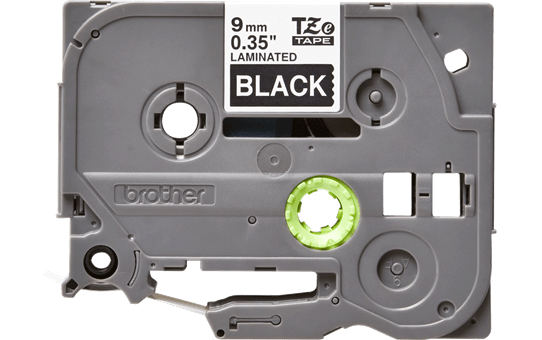 Original Brother TZe325 merketape – hvit på sort, 9 mm bred 2