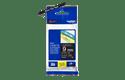 Cassette à ruban pour étiqueteuse TZe-325 Brother originale – Blanc sur noir, 9mm de large 3