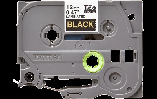 Cassetta nastro per etichettatura originale Brother TZe-334 – Oro su nero, 12 mm di larghezza