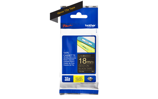 Brother TZe-344 18mm labeltape 3
