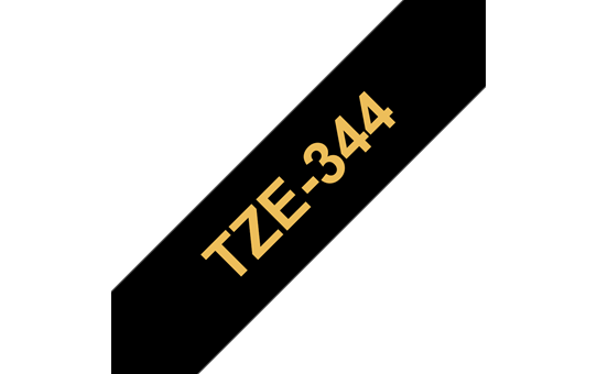 Original Brother TZe344 merketape– gull på sort, 18 mm bred