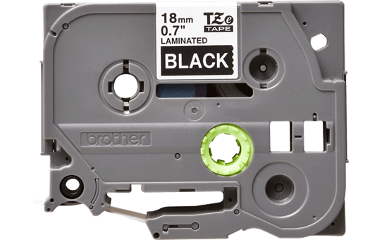 Originele Brother TZe-345 label tapecassette – wit op zwart, breedte 18 mm 2