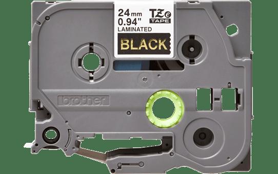 Original TZe-354 Schriftbandkassette von Brother – Gold auf Schwarz, 24mm breit 2