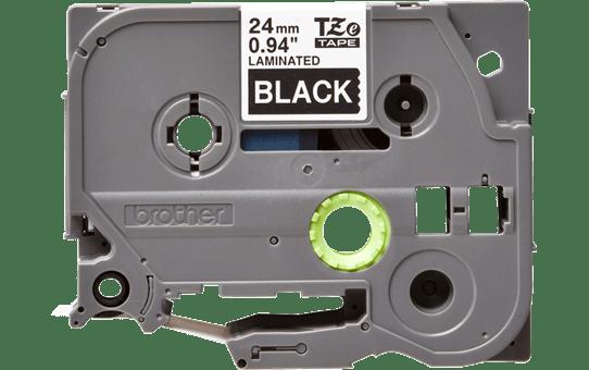 Originální kazeta s páskou Brother TZe-355 - bílý tisk na černé, šířka 24 mm 2