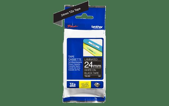 Cassette à ruban pour étiqueteuse TZe-355 Brother originale – Blanc sur noir, 24mm de large 3
