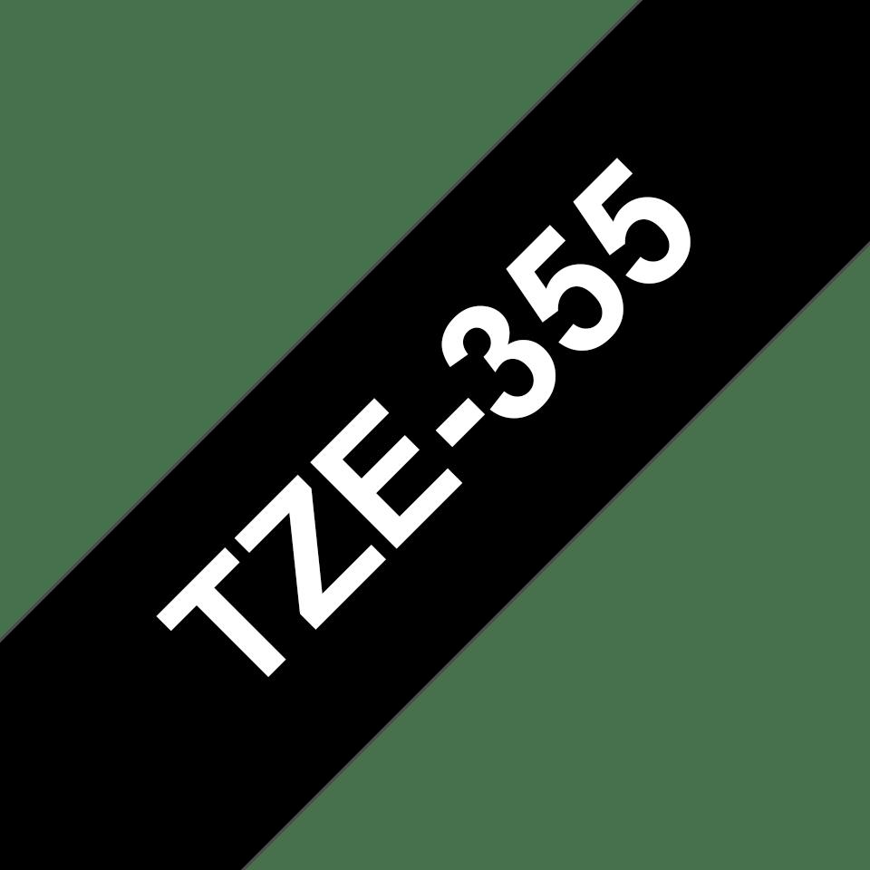 Brother TZE355 Nastro Laminato Bianco//Nero 24 mm