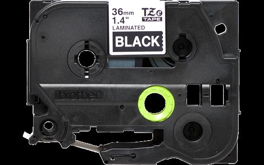 Cassetta nastro per etichettatura originale Brother TZe-365 – Bianco su nero, 36 mm di larghezza