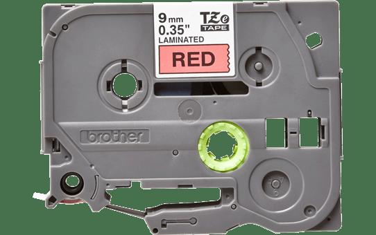 Original TZe-421 Schriftbandkassette von Brother – Schwarz auf Rot, 9mm breit 2