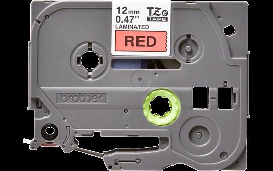 Original TZe-431 Schriftbandkassette von Brother – Schwarz auf Rot, 12mm breit 2