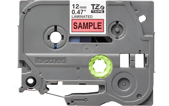 Original Brother TZe431S tape – sort på rød, 12 mm bred