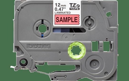 Oriģinālā Brother TZe431S melnas drukas sarkana uzlīmju lentes kasete, 12mm plata