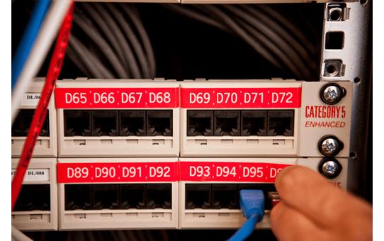 Alkuperäinen Brother TZe435 -tarranauha - valkoinen teksti punaisella pohjalla, 12 mm 4