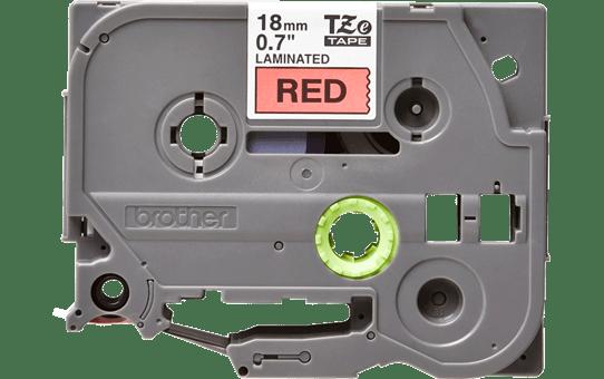 Brother TZe441 original etikettape, svart på röd, 18 mm