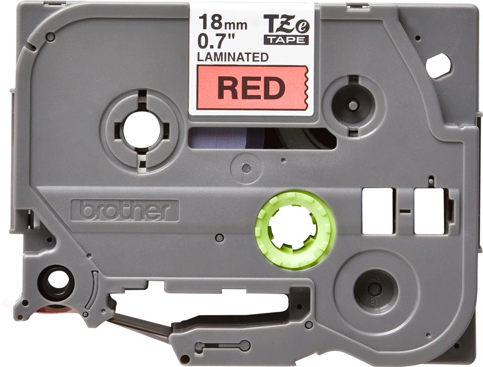 Cassette à ruban pour étiqueteuse TZe-441 Brother originale – Noir sur rouge, 18mm de large 2