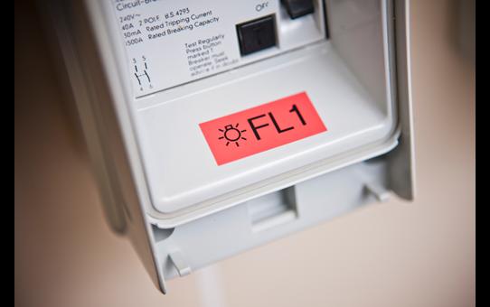 Brother TZe-451 - черен текст на червена ламинирана лента, 24mm ширина 4