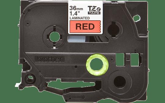 Casetă cu bandă de etichete originală Brother TZe-461 – negru pe roșu, lățime de 36mm 2