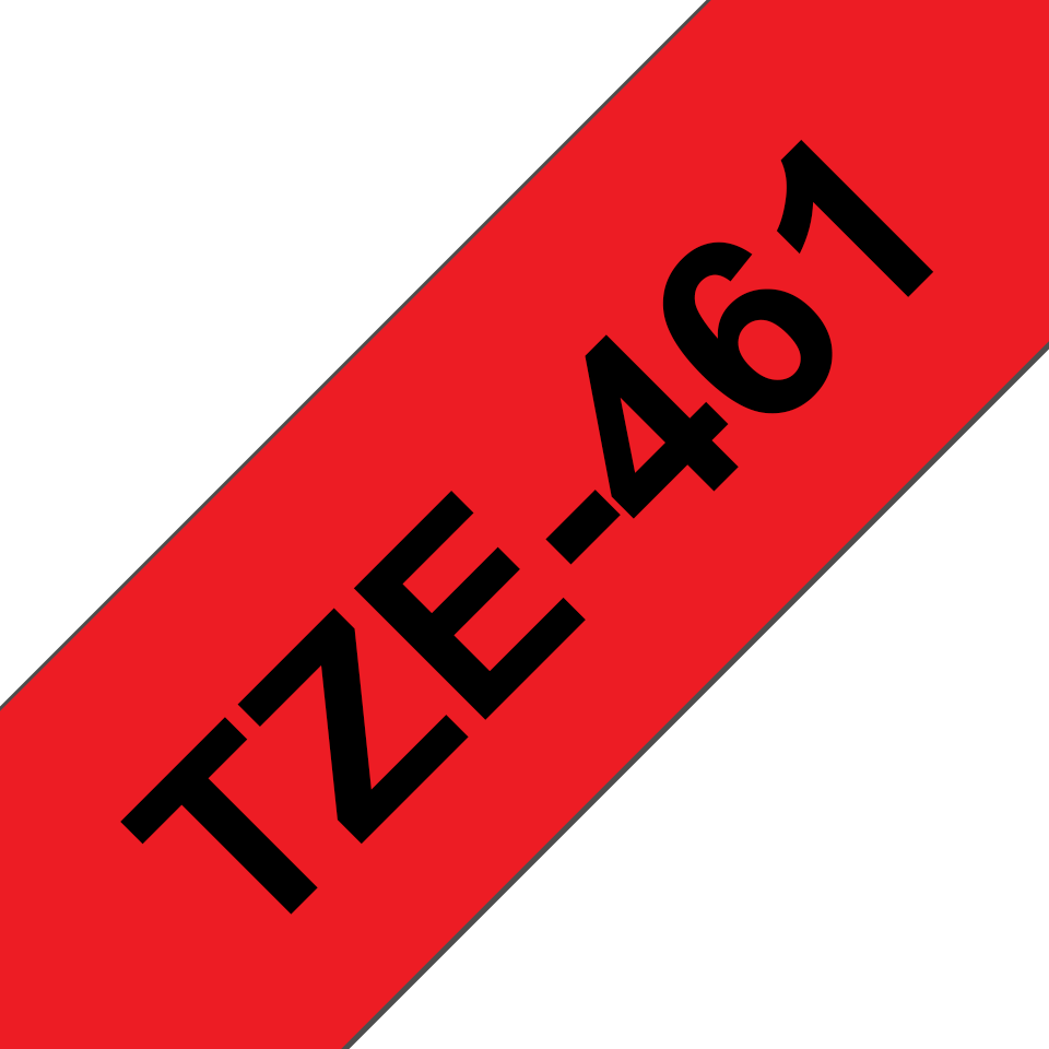 Genuine Brother TZe-461 Labelling Tape Cassette – Black on Red, 36mm wide