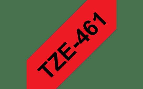 Original Brother TZe461 merketape – sort på rød, 36 mm bred