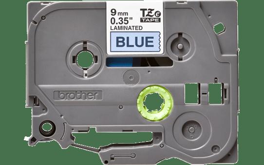 Originele Brother TZe-521 label tapecassette – zwart op blauw, breedte 9 mm 2