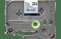 Genuine Brother TZe-521 Labelling Tape Cassette – Black on Blue, 9mm wide 2